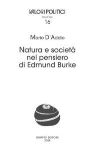 Libro Natura e società nel pensiero di Edmund Burke Mario D'Addio