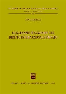 Le garanzie finanziarie nel diritto internazionale privato