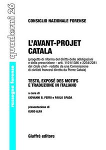 Libro L' avant-projet Catala