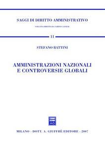 Libro Amministrazioni nazionali e controversie globali Stefano Battini