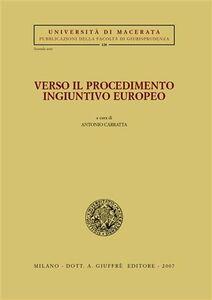 Foto Cover di Verso il procedimento ingiuntivo europeo, Libro di  edito da Giuffrè