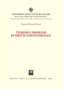 Libro Teoremi e problemi di diritto costituzionale Tommaso E. Frosini