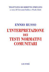 Libro L' interpretazione dei testi normativi comunitari Ennio Russo