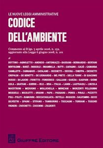 Foto Cover di Codice dell'ambiente, Libro di  edito da Giuffrè