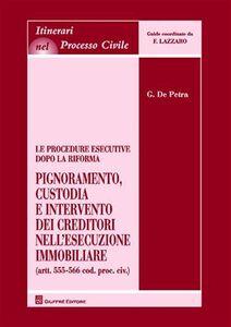Libro Le procedure esecutive dopo la riforma. Pignoramento, custodia e intervento dei creditori nell'esecuzione immobiliare Giovanni De Petra