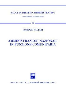 Libro Amministrazioni nazionali in funzione comunitaria Lorenzo Saltari