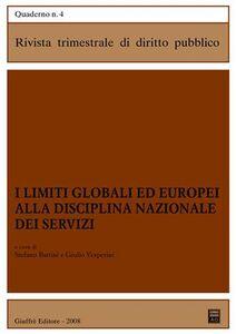 Libro I limiti globali ed europei alla disciplina nazionale dei servizi