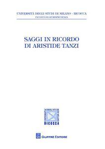 Libro Saggi in ricordo di Aristide Tanzi