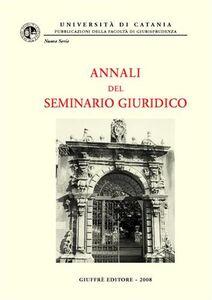 Foto Cover di Annali del seminario giuridico (2006-2007). Vol. 3, Libro di  edito da Giuffrè