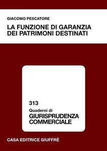 Foto Cover di La funzione di garanzia dei patrimoni destinati, Libro di Giacomo Pescatore, edito da Giuffrè
