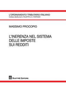 Libro L' inerenza nel sistema delle imposte sui redditi Massimo Procopio
