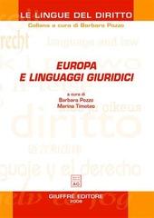 Europa e linguaggi giuridici