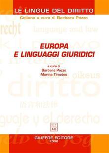 Parcoarenas.it Europa e linguaggi giuridici Image
