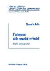 L' autonomia delle comunità territoriali. Profili costituzionali