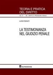La testimonianza nel giudizio penale