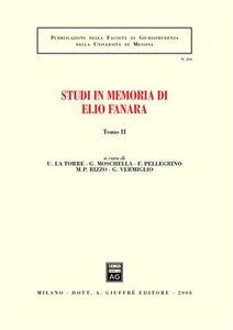 Foto Cover di Studi in memoria di Elio Fanara. Vol. 2, Libro di  edito da Giuffrè