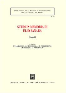 Libro Studi in memoria di Elio Fanara. Vol. 2