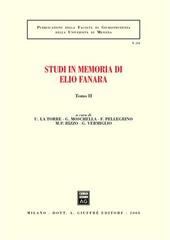 Studi in memoria di Elio Fanara. Vol. 2