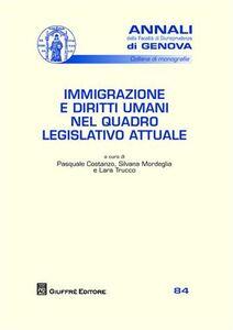 Libro Immigrazione e diritti umani nel quadro legislativo attuale Pasquale Costanzo , Silvana Mordeglia