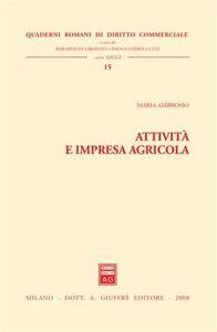 Libro Attività e impresa agricola Maria Ambrosio