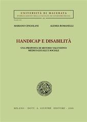 Handicap e disabilità. Una prosposta di metodo valutativo medico-legale e sociale