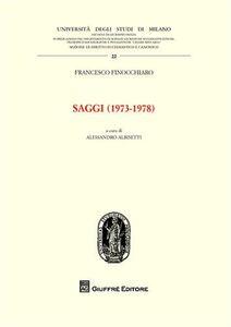 Libro Saggi (1973-1978) Francesco Finocchiaro