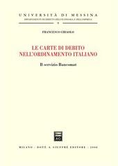 Le carte di debito nell'ordinamento italiano. Il servizio bancomat