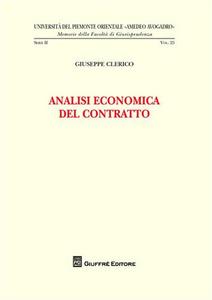 Libro Analisi economica del contratto Giuseppe Clerico
