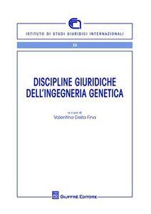 Libro Discipline giuridiche dell'ingegneria genetica
