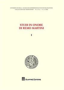 Foto Cover di Studi in onore di Remo Martini. Vol. 1, Libro di  edito da Giuffrè