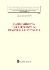 L' ammissibilità dei referendum in materia elettorale