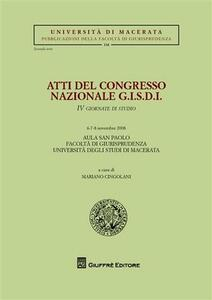 Atti del Congresso nazionale G.I.S.D.I. 4 Giornate di studio (Macerata, 6-8 novembre 2008)