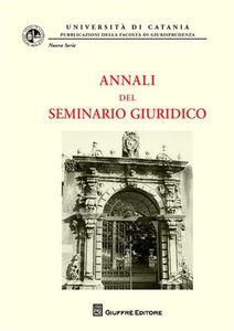 Foto Cover di Annali del seminario giuridico (2007-2008). Vol. 9, Libro di  edito da Giuffrè