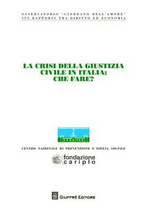 Libro La crisi della giustizia civile in Italia. Che fare? Atti del Convegno dell'Osservatorio «Giordano Dell'Amore» (Milano, 14-15 novembre 2008)