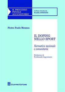 Libro Il doping nello sport Pietro Paolo Mennea