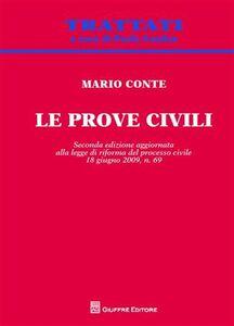 Foto Cover di Le prove civili, Libro di Mario Conte, edito da Giuffrè