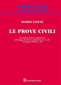 Libro Le prove civili Mario Conte