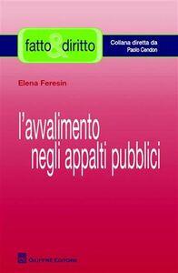 Libro L' avvalimento negli appalti pubblici Elena Feresin