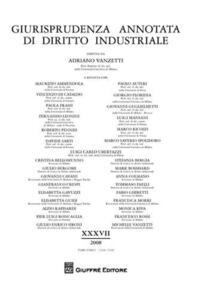 Giurisprudenza annotata di diritto industriale. Anno 36° (2007)