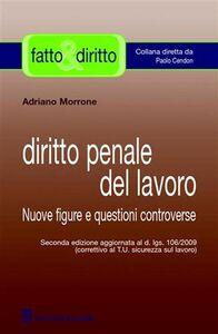 Foto Cover di Diritto penale del lavoro. Nuove figure e questioni controverse, Libro di Adriano Morrone, edito da Giuffrè