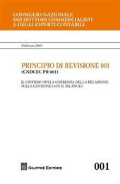 Principio di revisione. Documento 001. Il giudizio sulla coerenza della relazione sulla gestione con il bilancio