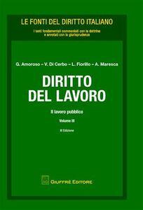 Libro Diritto del lavoro. Vol. 3: Il lavoro pubblico.