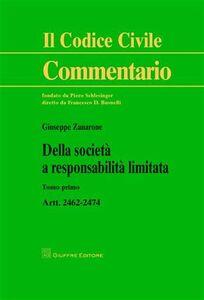 Libro Della società a responsabilità limitata Giuseppe Zanarone