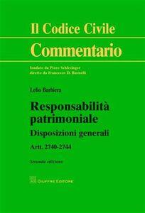 Foto Cover di Responsabilità patrimoniale. Disposizioni generali, Libro di Lelio Barbiera, edito da Giuffrè