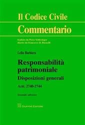 Responsabilità patrimoniale. Disposizioni generali