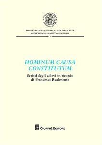 Libro Hominum causa constitutum. Scritti degli allievi in ricordo di Francesco Realmonte