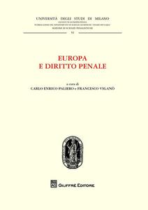 Libro Europa e diritto penale