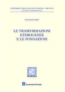 Libro Le trasformazioni eterogenee e le fondazioni Giovanni Iorio