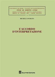 Libro L' accordo d'interpretazione Michele Onorato