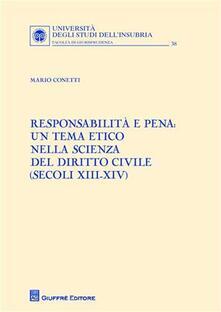 Antondemarirreguera.es Responsabilità e pena. Un tema etico nella scienza del diritto civile (secoli XIII-XIV) Image